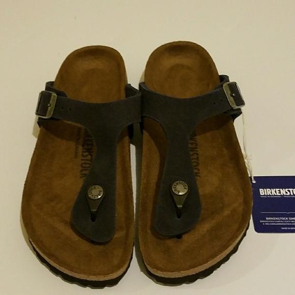 299cf1aa7068 New Birkenstock Gizeh Navy Blue Sandals 38